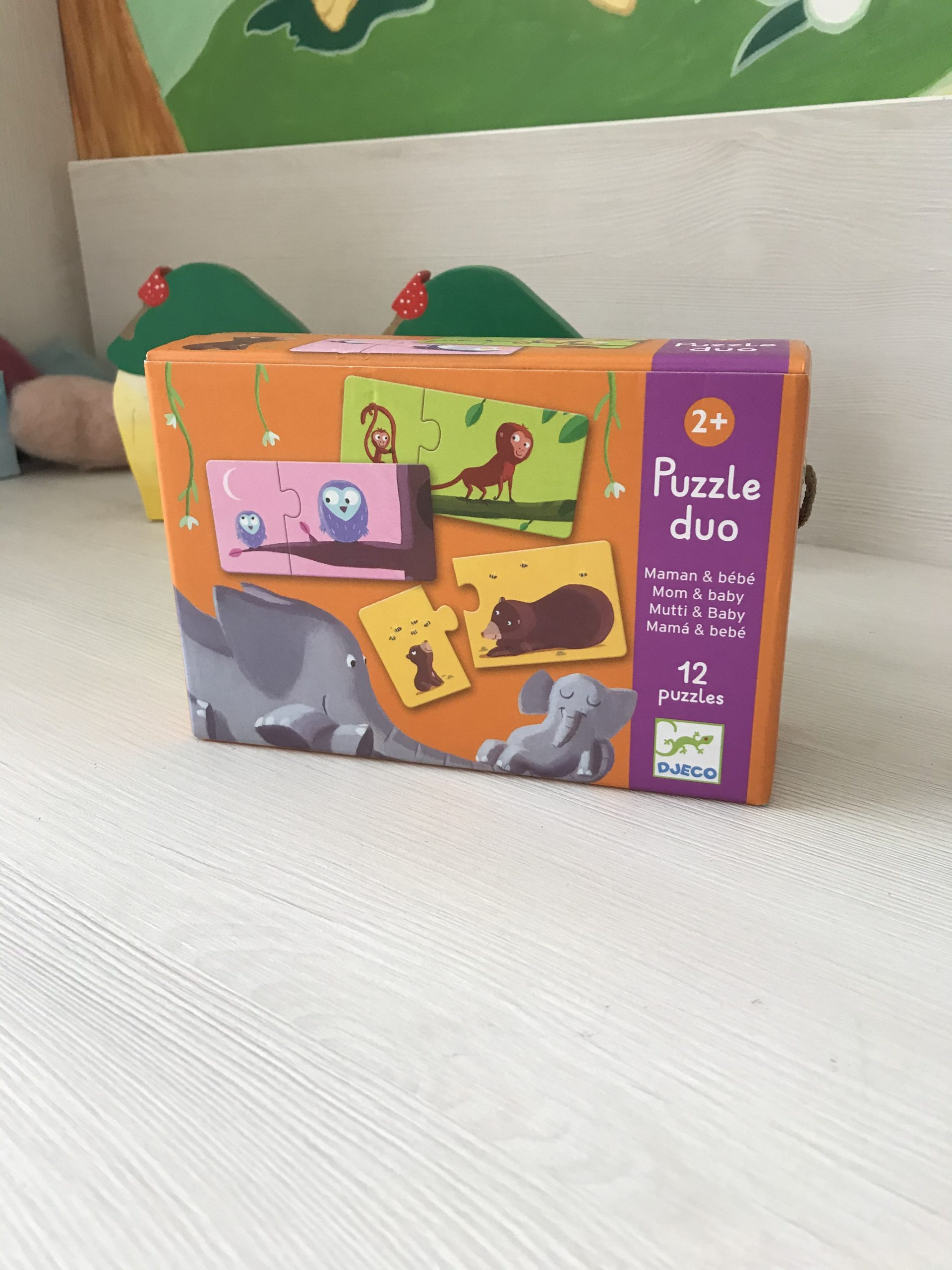 Puzzle duo mama și puiul